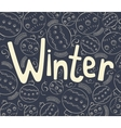 Winter background with curls vector image vector image
