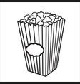 with sketch popcorn bucket vector image