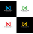 colorful abstract letter m vector image