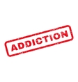 Addiction Text Rubber Stamp