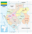 administrative map african state gabon