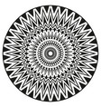 ancient sign symmetric mandala can be used to vector image vector image