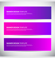 banners or headers with trendy bright pink vector image vector image