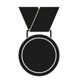 black and white award medal silhouette vector image