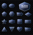 blue glass plates set on transparent background vector image
