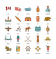canada icons set cartoon style vector image vector image