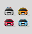 car icons front view vector image vector image
