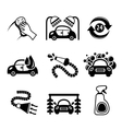 Car wash icons black and white vector image vector image