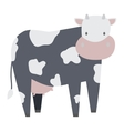 Cartoon cow character vector image vector image