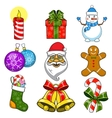 Christmas and New Year objects vector image