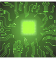 Circuit board green background vector image