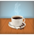 Cup with black classic espresso on the table vector image vector image