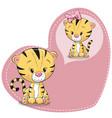 cute cartoon dreaming tiger vector image vector image