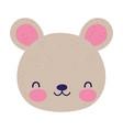 cute teddy bear face toy cartoon icon vector image vector image