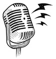 doodle microphone radio vector image vector image
