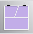 empty collage board three images photo vector image vector image