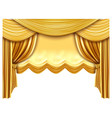 golden stage curtain realistic silk curtains vector image vector image