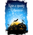 Grungy Halloween Background with Pumpkin
