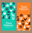 halloween thin card or flyer templates with vector image vector image
