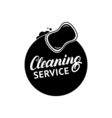 Hand written lettering Cleaning Service logo label vector image