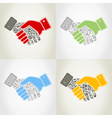 Hand9 vector image vector image