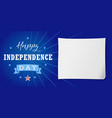 happy independence day usa lettering banner vector image vector image