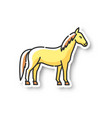 horse patch vector image