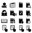 icons books vector image vector image