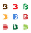 initial b logo template and inspiration vector image
