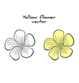 Isolated Yellow Flower vector image vector image