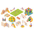 isometric items or equipment for playground vector image vector image