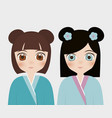 japanese girls concept vector image vector image