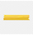 long pasta icon realistic style vector image vector image