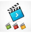 media player icon set vector image vector image