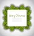 Merry Christmas elegant card with fir branches vector image vector image