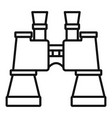 military binocular icon outline style vector image vector image