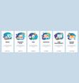 mobile app onboarding screens coffee break vector image vector image
