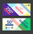 modern gift voucher on colorful background for vector image vector image