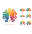 multi-colored semicircles infographic templates vector image vector image