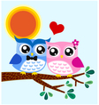 owl couple in love vector image