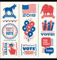 patriotic design elements for voting vector image vector image