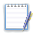 pen and notepad vector image vector image