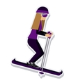 person figure athlete ski sport icon vector image vector image