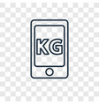 phone concept linear icon isolated on transparent vector image