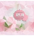 polygonal pink background vector image