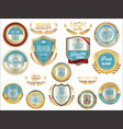 quality badges and labels retro collection vector image vector image