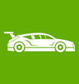 rally racing car icon green vector image vector image