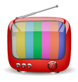 red cute TV vector image vector image