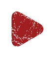 Red grunge play logo vector image vector image