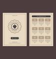 restaurant logo and menu design brochure vector image vector image